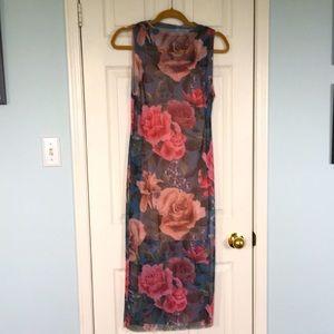 NWT gorgeous sheer sheath over mini dress
